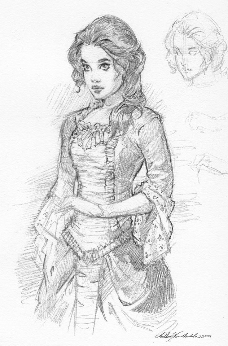 Sketch Of Victorian Women Coloring Pages