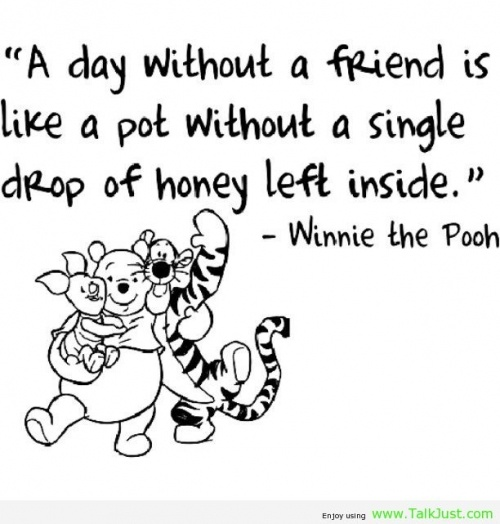 Pooh Quotes About Friendship: Christmas Winnie The Pooh Quotes. QuotesGram