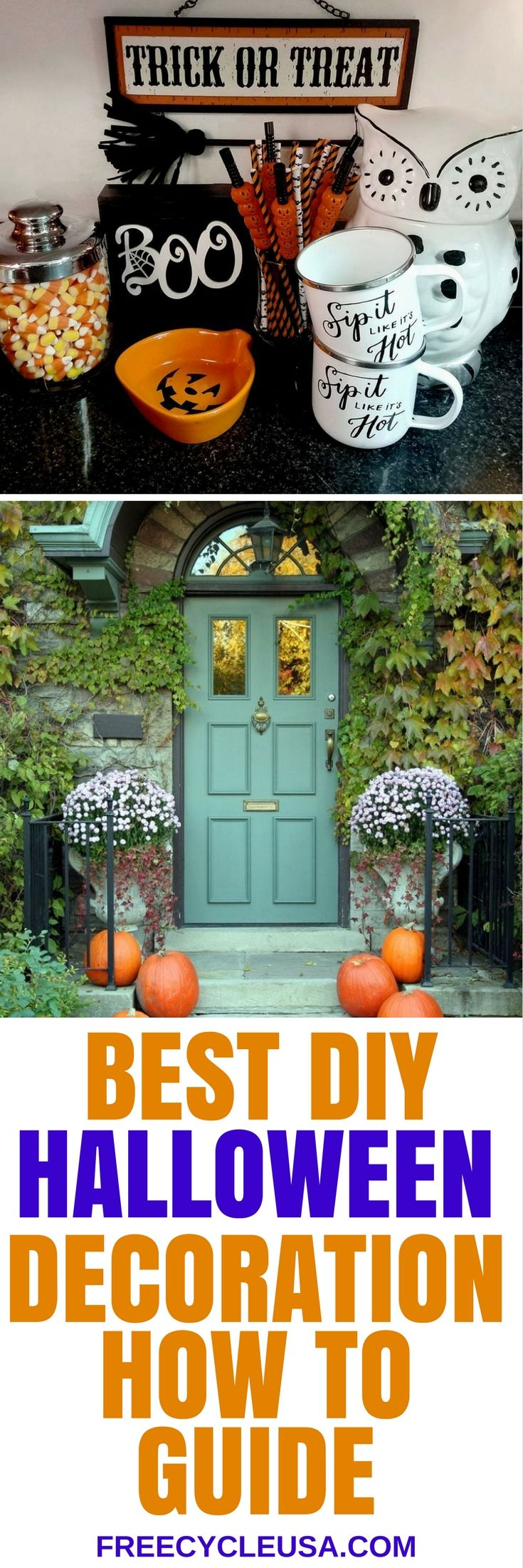 5 Best Halloween Decoration Ideas For 2017. Halloween GarlandDiy Halloween  DecorationsHalloween CraftsDeco MeshHalloween 2017FestiveGarlandsWreathsDoor  ...
