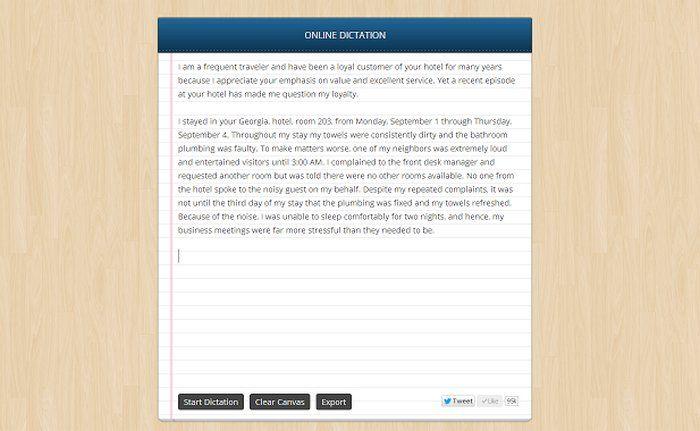 Voice Recognition es una app para Chrome que permite usar la voz para escribir texto