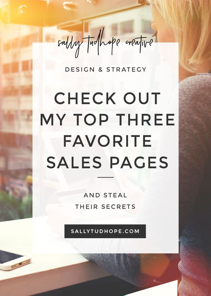 A great sales page is so beautiful you want to make out with it...