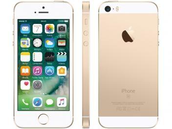 """iPhone SE Apple 16GB Dourado 4G Tela 4"""" - Retina Câm. 12MP iOS 10 Proc. Chip A9 Touch ID - com as melhores condições você encontra no Magazine Shopspremium. Confira!"""