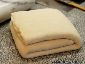 Слоённое дрожжевое тесто для пиццы