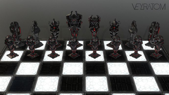 holographic battle chess set | My WIP and models on Sketchfab - Artwork - Sketchfab Forum