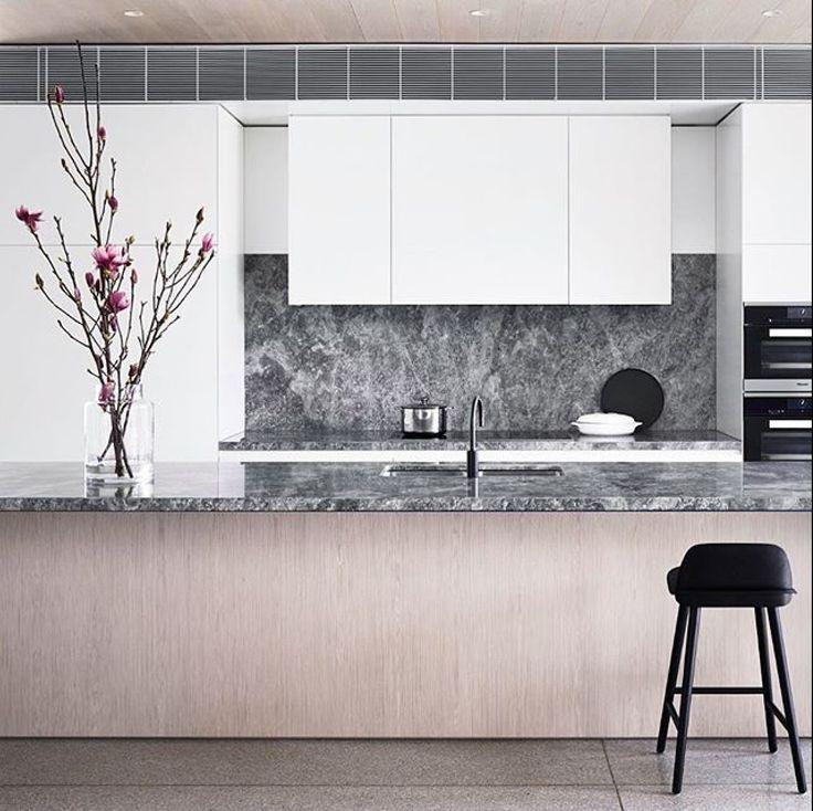 Gorgeous Portsea Grey Marble kitchen by @mimdesignstudio , with photo by @sharyncairns  #cdkstone #portseagreymarble #portseagrey #marble #naturalstone #naturalbeauty #naturesmasterpiece #kitchendesign #kitcheninspiration #designinspiration