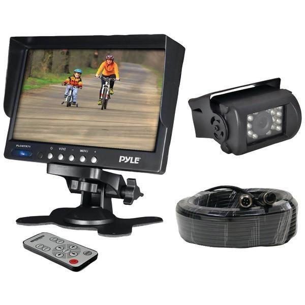 "Pyle PLCMTR71 7"" Weatherproof Backup Camera System with IR Night Vision Camera"