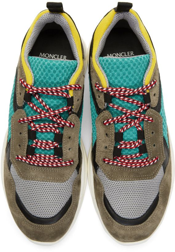3d8fb4929a4 Moncler Multicolor Calum Sneakers | shoes | Sneakers, Suede sneakers ...