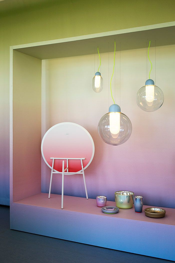 MINTY WARES   Colour transition and suspended shapes. Scholten & Baijings at Villa Noailles 1 - Over the Rainbow , exhibition
