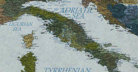 il popolo del blog,: La mappa dell'Italia nel 2100 CORRIERE.IT