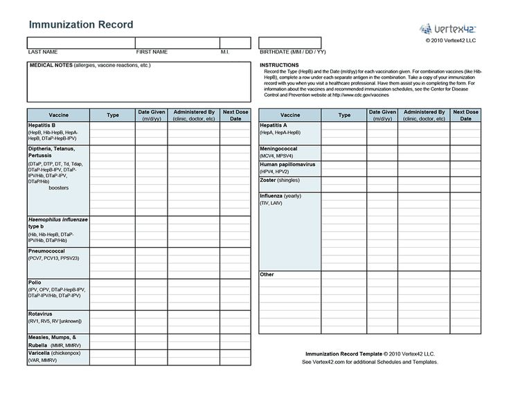 Tactueux image throughout printable immunization records