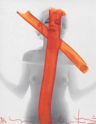 Bert Stern / found on www.kunzt.gallery / Marilyn Monroe, Crucifix, 2012 / Photography