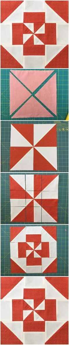 Block 3 - Disappearing pinwheel quilt sampler tutorial
