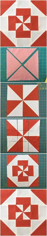 Block 3 - Disappearing pinwheel quilt sampler tutorial