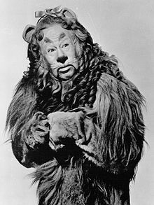 Burt Lahr as the Cowardly Lion in the MGM feature film The Wizard of Oz, 1939
