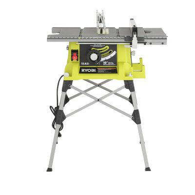 Ryobi 10 in. Portable Table Saw with Quick Stand RTS21G at The Home Depot - Mobile