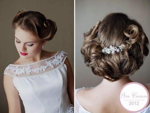 модная прическа на свадьбу для коротких волос