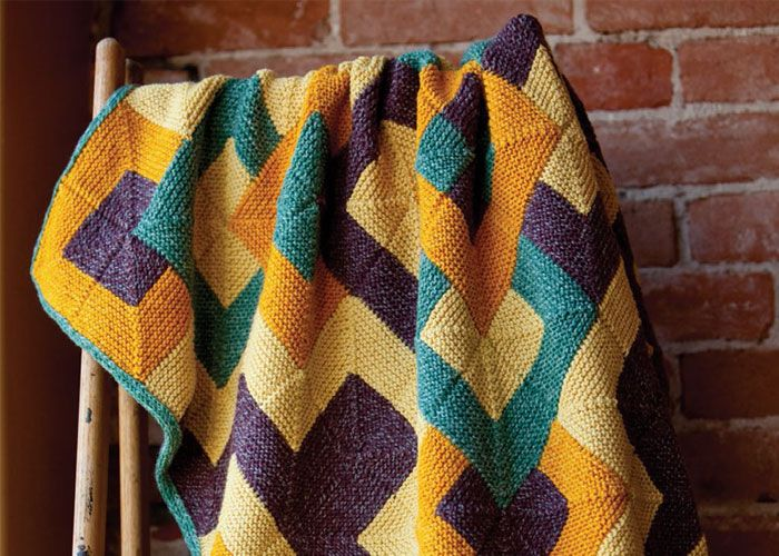 Make This Beautiful Knitted Afghan In This Free Knitted
