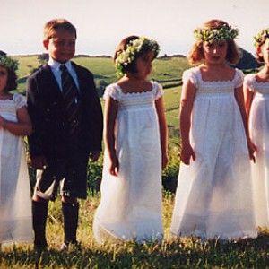 Pajes y damitas para una boda campestre