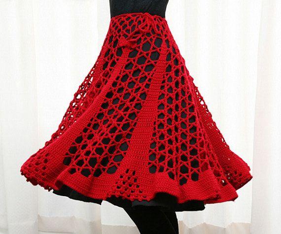 PATRÓN - ganchillo - falda / Poncho / calentador del cuello