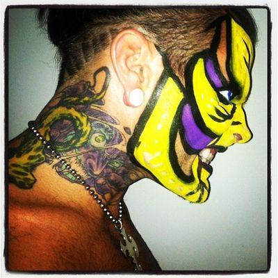 Jeff Hardy Face Paint | Jeff Hardy # TNA # Impact Wrestler # Face Paint