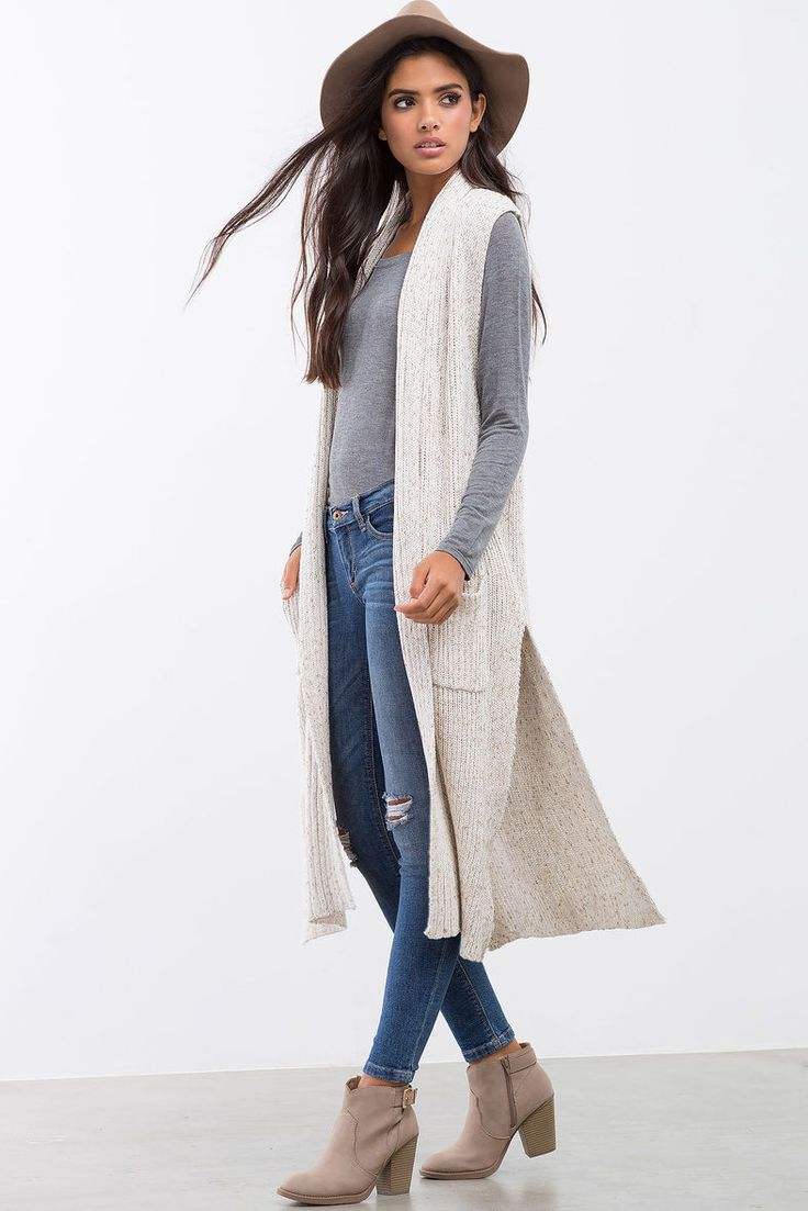 d315676af1 I luv these sleeveless cardigans but they make me look even shorter than I  am