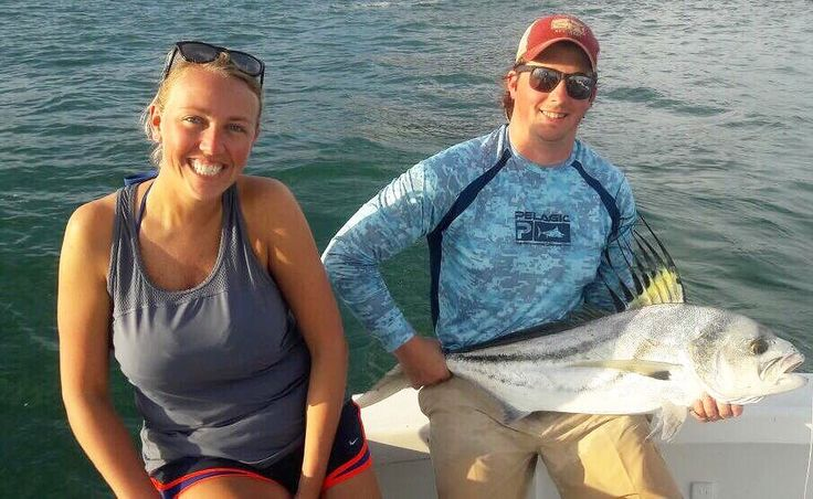 The smiles say it all. Thomas & Kelli had a great time aboard GOOD DAY today catching this Roosterfish w/ Capt. Manuel Gabuardi & mate Yoxan