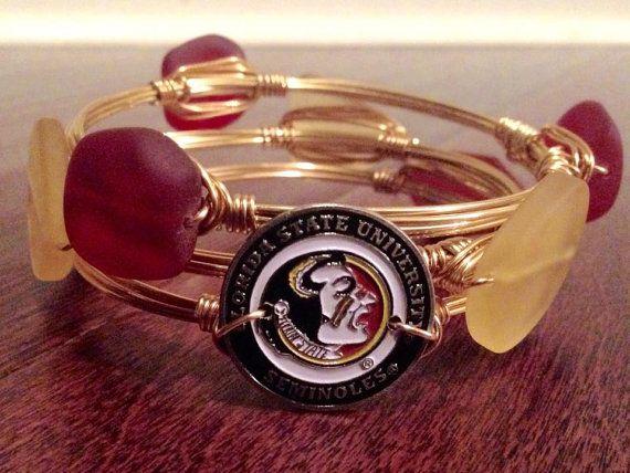 FSU Bangle Bracelet - Wire Wrapped