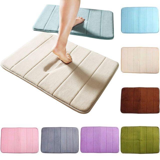 1pc New Thickening Non Slip Carpet Bath Mat Bathroom Coral Velvet