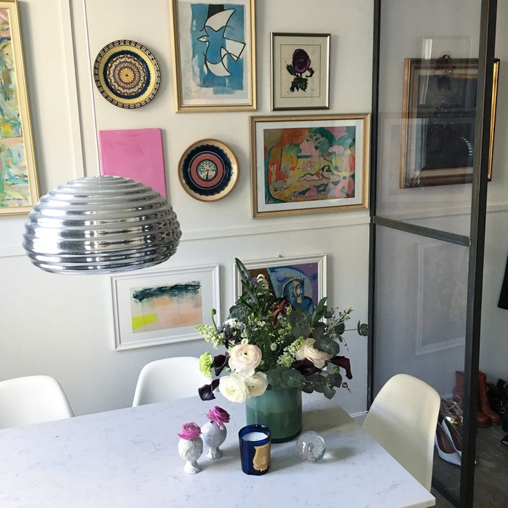Art wall / dining area. helene Hammer