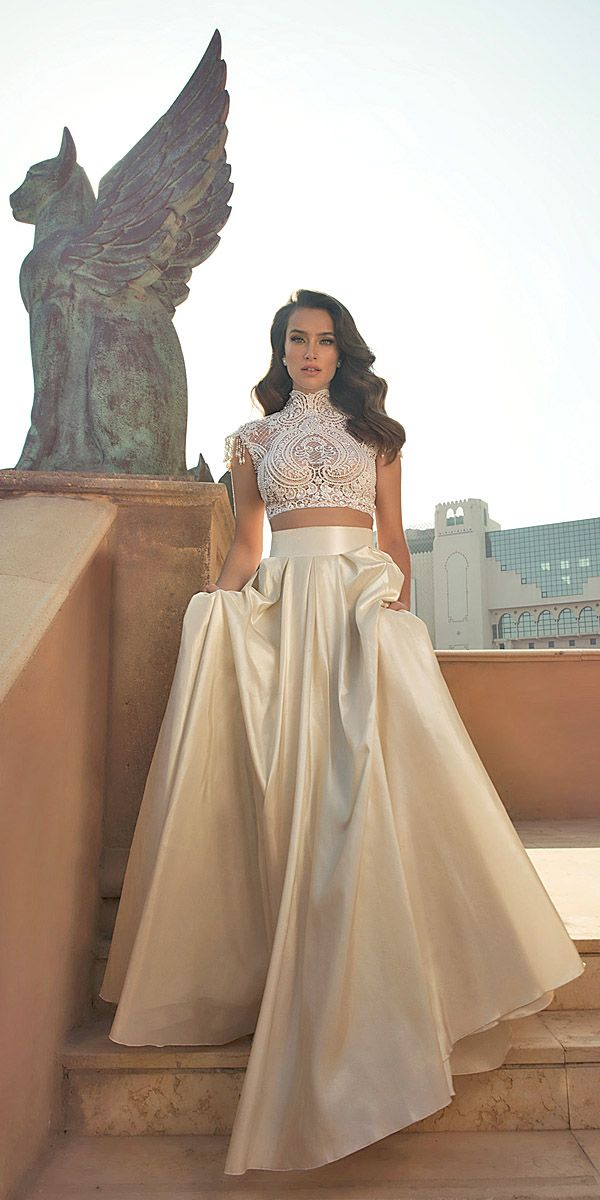 Breaking The Rules - Bridal Separates ❤ The best part about bridal separates gowns is that you can mix and match to create a perfect look. See more: http://www.weddingforward.com/breaking-the-rules-bridal-separates/ #wedding #dresses