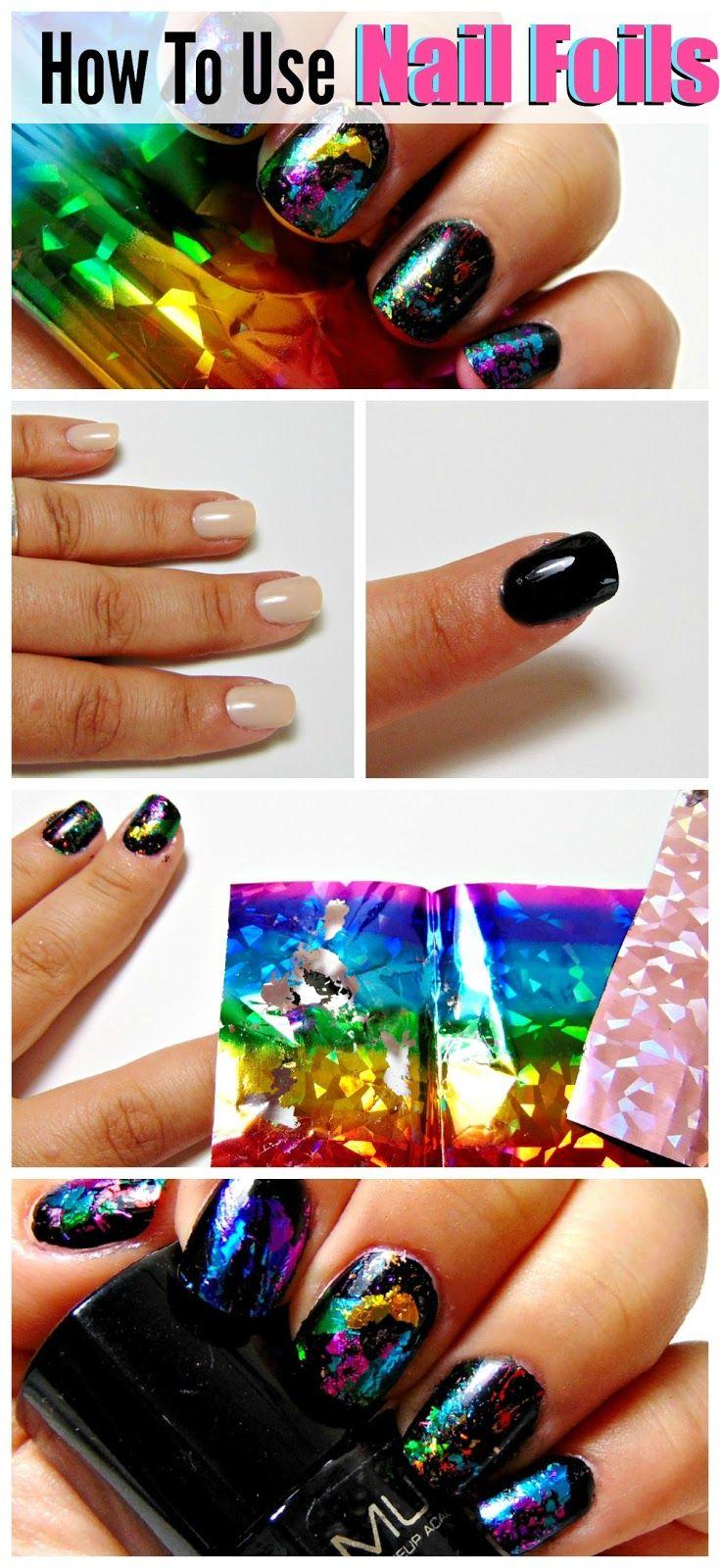 Mani Monday - Rainbow Nail Foil Mani