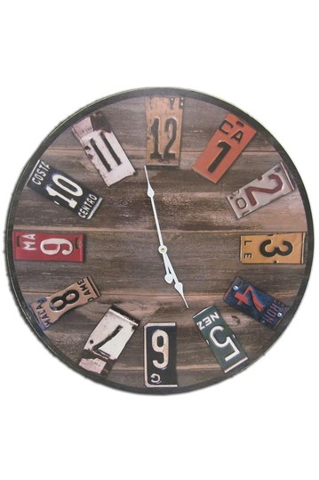 Parisian Chic: Frames & Decor Industrial Wall Clock with Plate Dials