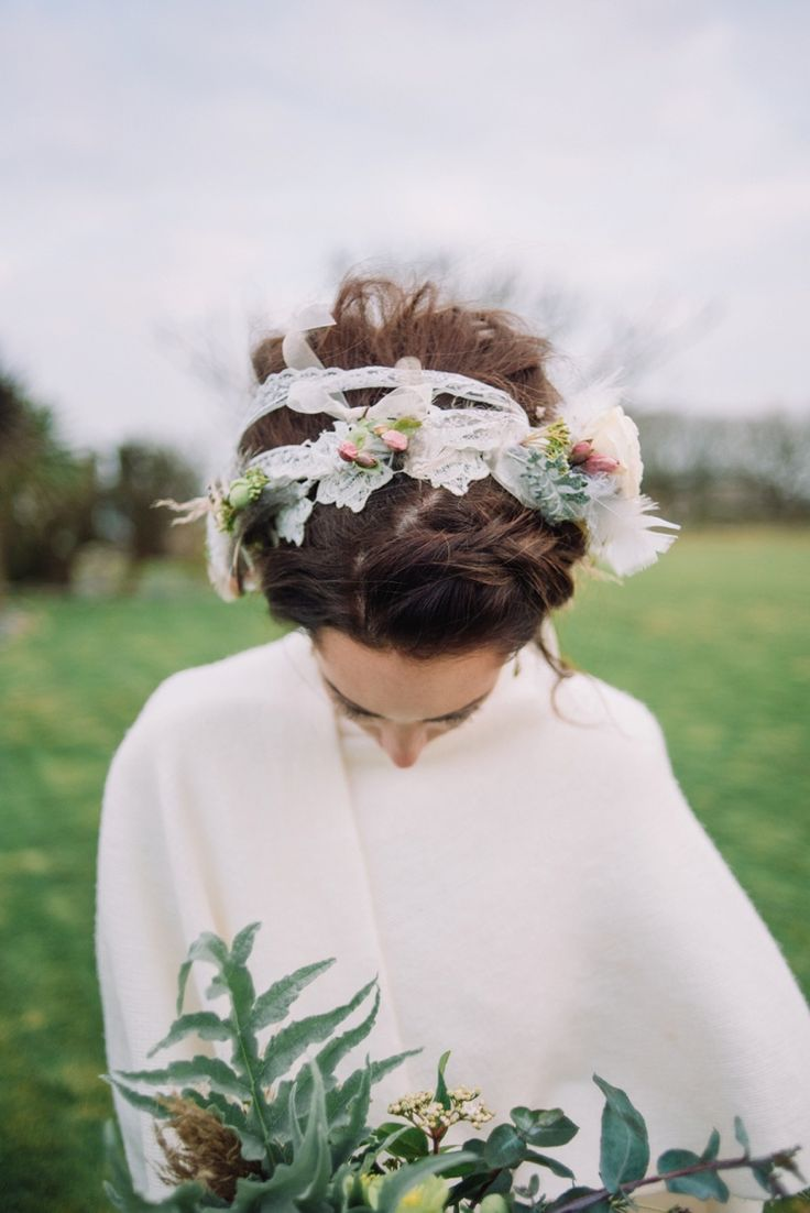 Wedding hair accessories gloucestershire - Hair Band Flowers Accessory Bride Bridal Wedding Bohemian Styled Vow Renewal Https Libertypearlphotography