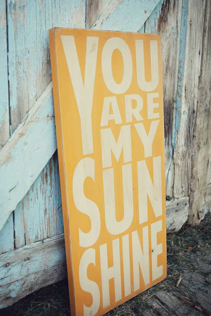 You Are My Sunshine Plaque for the nursery <3 perfect for a beachy theme :)