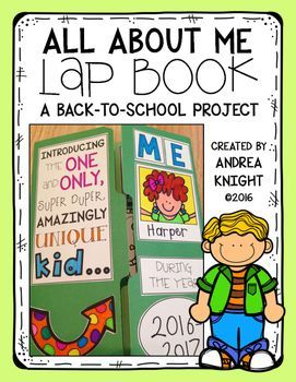 I love lap books because they result in creative collections of interesting and important information. Kids who like doing puzzles, creating displays, or designing scrapbook pages enjoy the ongoing, creative work of making lap books.This ALL ABOUT ME lap book can be worked on throughout the first week of school, but older students should be able to finish the project in a single day, if necessary.