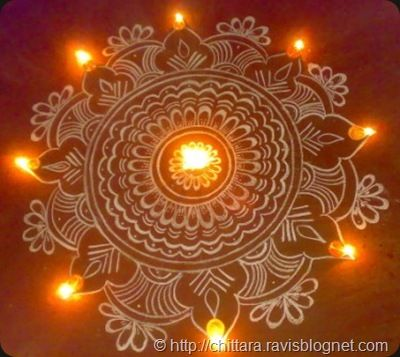 Rangoli Floor design by Chitarra