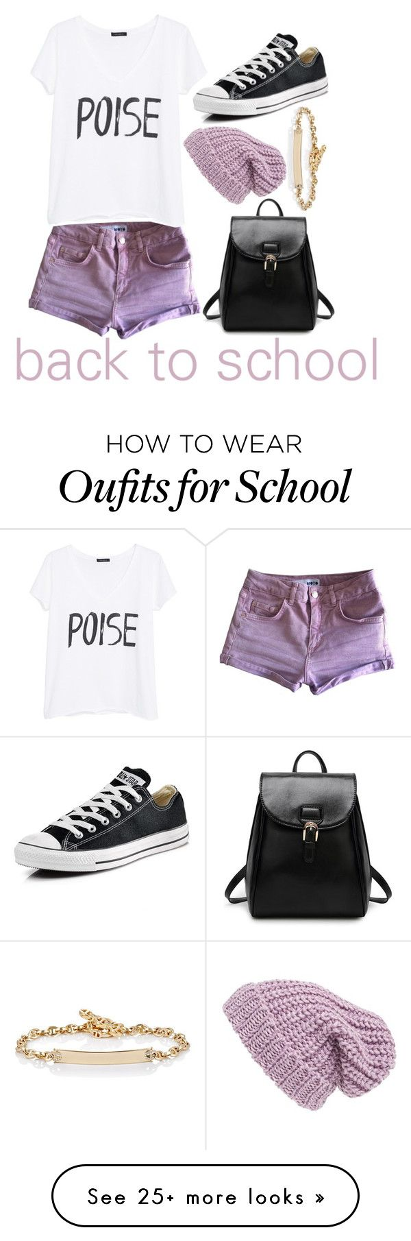"""""""29. back to school outfit"""" by beautiful-nxghtmare on Polyvore featuring Topshop, MANGO, Converse, Phase 3 and Hoorsenbuhs"""