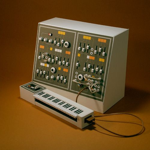 #awesome #welovebass HAND MADE cardboard synth model by the awesome Dan McPharlin. A tear |;-( just beautiful.