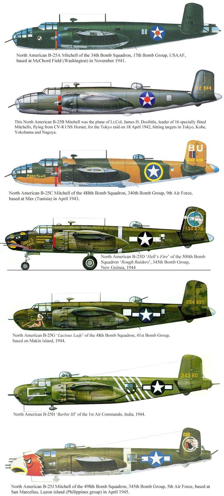 B-25's that my Dad, Walter Ralph Trent, flew in WW II...