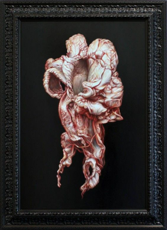 Victoria Reynolds' Scary Paintings of Meat - Beautiful/Decay