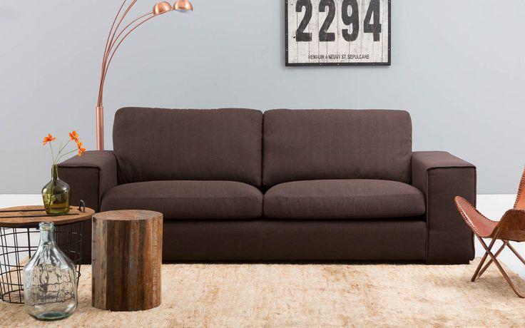 25 beste idee n over bruine bank inrichting op pinterest woonkamer bruin donkerbruine bank - Cuir muurschildering ...