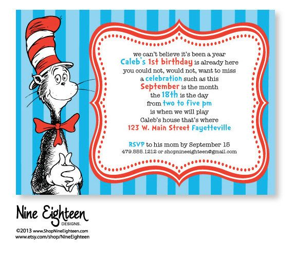 59 best images about Cat in the hat party – Cat in the Hat Party Invitations