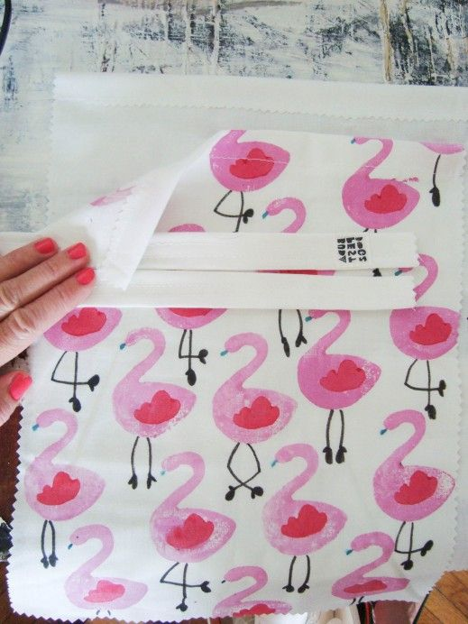 Do it yourself: flamingo tote bag