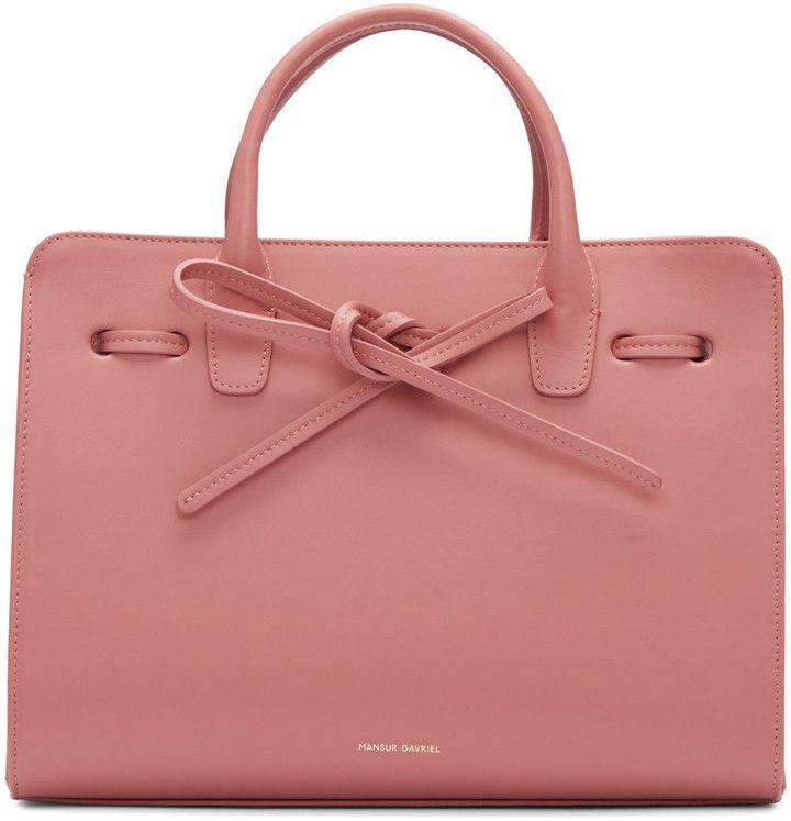 Mansur Gavriel Pink Leather Mini Sun Tote