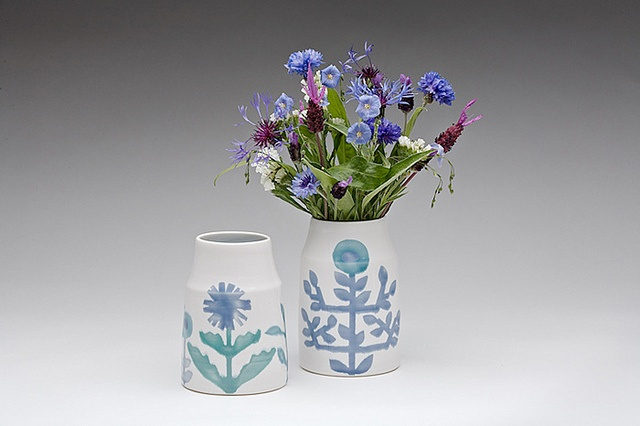 dahlhaus blue cornflower vases by arounna, via Flickr
