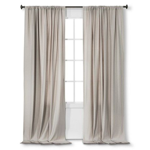 nate berkus fringed herringbone curtain panel creamy