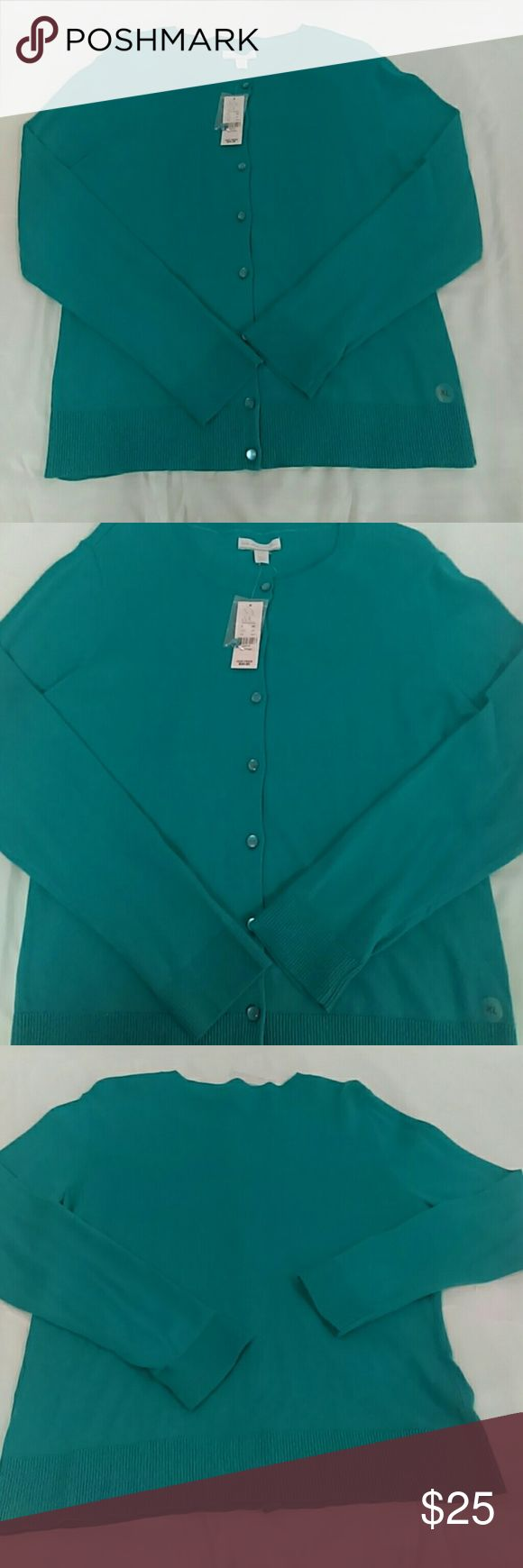"NWT NY&C Turquoise Cardigan Sz. XL Stay a little warmer at the office or complete you look with this cardigan. Bust measures 20"" New York & Company Sweaters Cardigans"