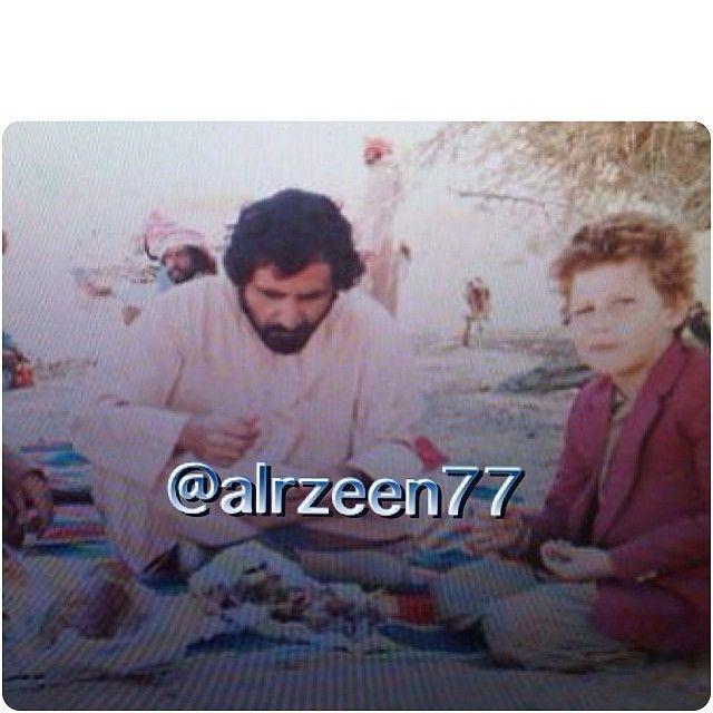 Mohammed RSM con su hijo Marwan MRM. Vía: alrzeen77