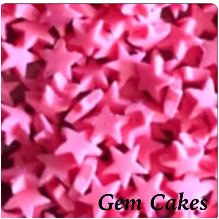 Edible baby Shower christening Pink stars cupcake toppers decorations for Girls