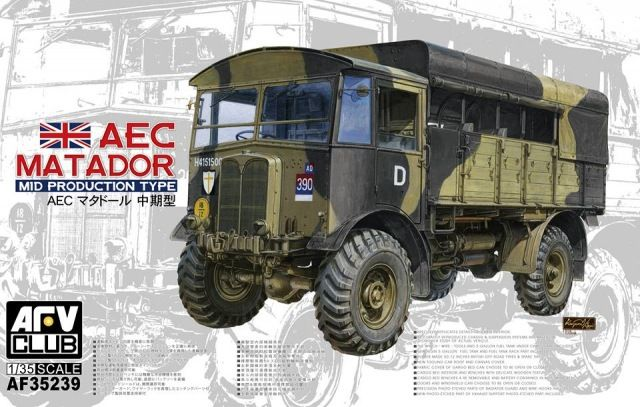 AEC Matador, Mid Production Type. AFV Club, 1/35, rebox 2015 (ex AFV Club 2014 No.AF35236, updated/new parts), No.AF35239. Price: 54,95 EUR (marketplace).